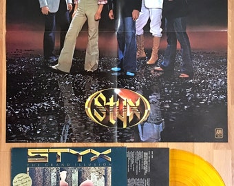 STYX - The Grand Illusion (1977) GOLD Vinyl LP + Poster  Import