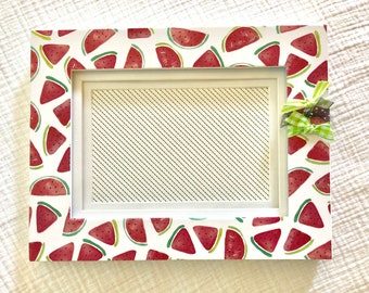 4x6 Picture Frame with watermelons - green accents