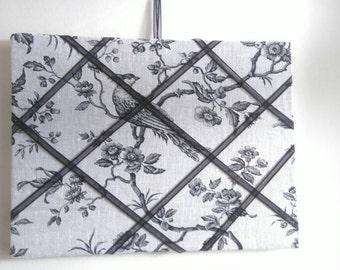 Handmade linen notice board