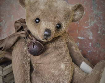 Artist Teddy Bear Alexander 12.5 inches OOAK NadyaBears Artist Teddy Bear Mohair Antique Teddy Bear