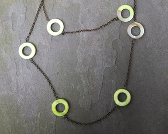 Moss Green Long Chain Necklace