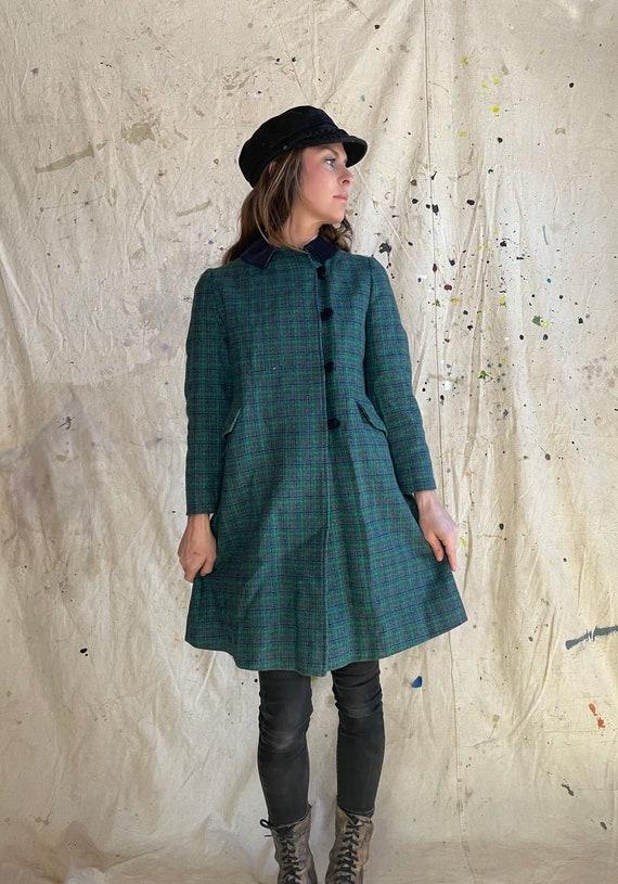 Vintage 1950s The Philadelphian Wool Plaid Tweed C