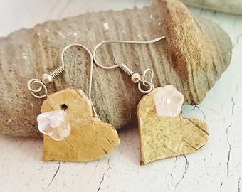 Handmade Birch Bark Dangle Earrings ~ Best Friend Gift From Canada ~ Mothers Day, Graduation, Teacher Gifts ~ Natural Rustic Boho Earrings