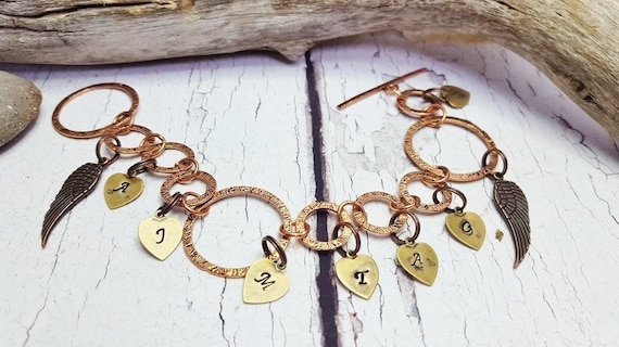 Personalized Name Bracelet Memorial Hand Stamped
