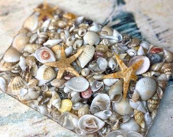 Seashell Soap Saver, Shell Soap Dish, Resin Soap Dish, Soap Tray, Soap Deck, Beach, Stone, Bathroom, Kitchen, Resin, Decor