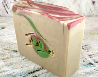 Merry Mistletoe Handmade Soap, Cold Process Soap, Goat Milk Soap, Shea Butter Soap, Cocoa Butter Soap, Homemade Soap, Handcrafted Soap