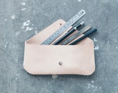 Pencil Case • natural sheep leather • 19x9 cm • handmade