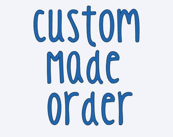 Custom Made Quilling Order