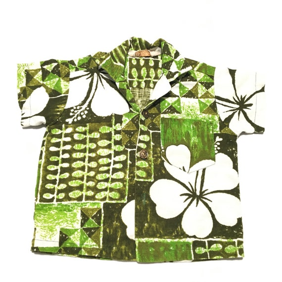 Vtg. 60s Royal Hawaiian Kids Shirt