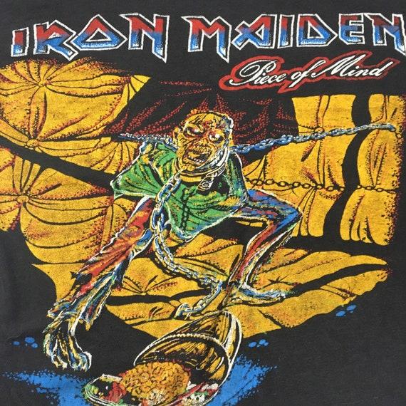 Vtg. 80s Iron Maiden Piece of Mind T-Shirt - image 3