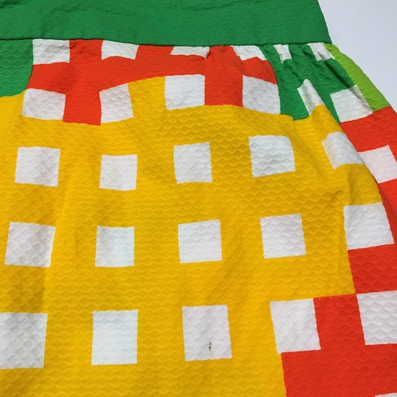 Vtg. 70s Malia Honolulu Rainbow Checkered Hawaiia… - image 10