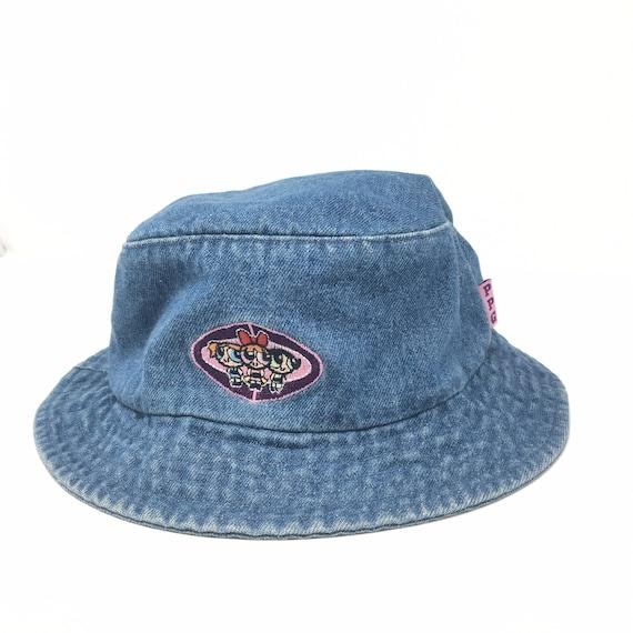 Vtg. 00s Powerpuff Girls Embroidered Denim Bucket