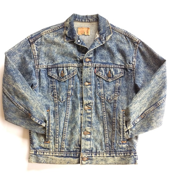 Vtg. Levis Acid Wash Jacket