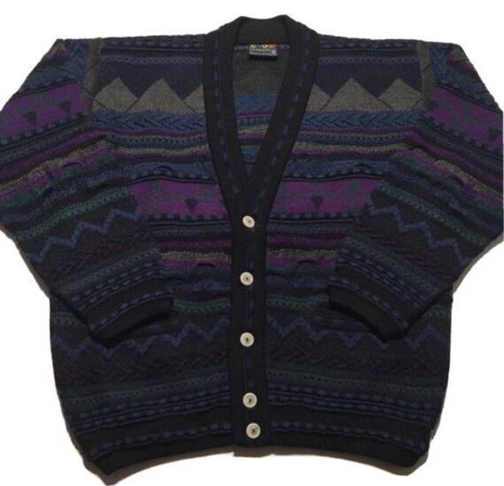 Vtg. 90s COOGI Cardigan Sweater
