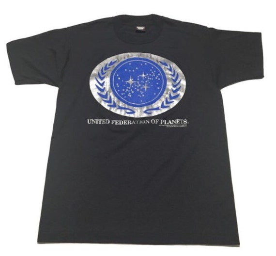 Vtg. 90s Star Trek United Federation Of Planets Sc