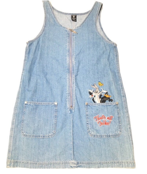 Vtg. 90s Looney Tunes That's All Folks Embroidered