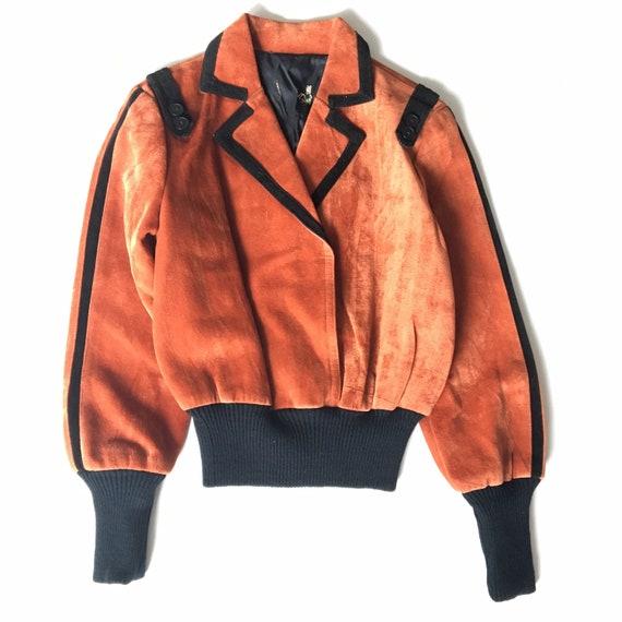 Vtg. 70s Orange Black Halloween Top
