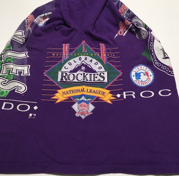 Vtg. Colorado Rockies Double Sided Huge Graphic A… - image 3