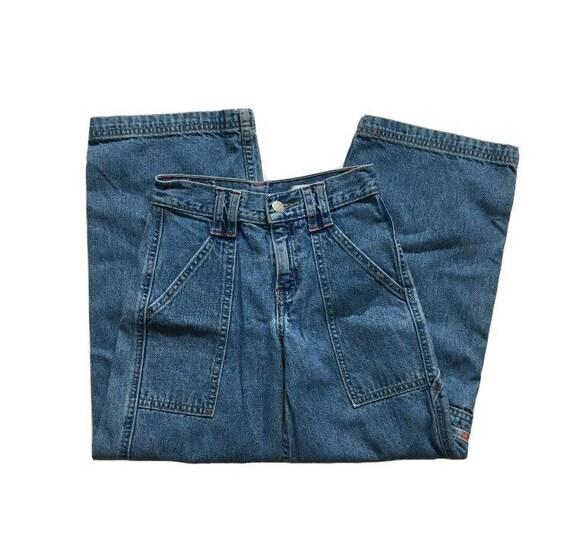 Vtg. 90s Levi's Dry Goods Cargo Carpenter Jeans Yo