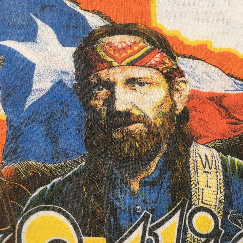 80s Willie Nelson and Family On Tour Presented by Wrangler Vintage Ringer T-Shirt Vtg