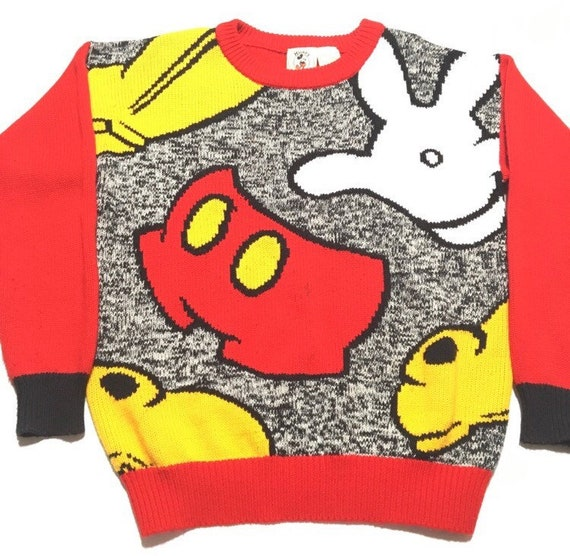 Vtg. 80s Mickey Mouse Knit Sweater