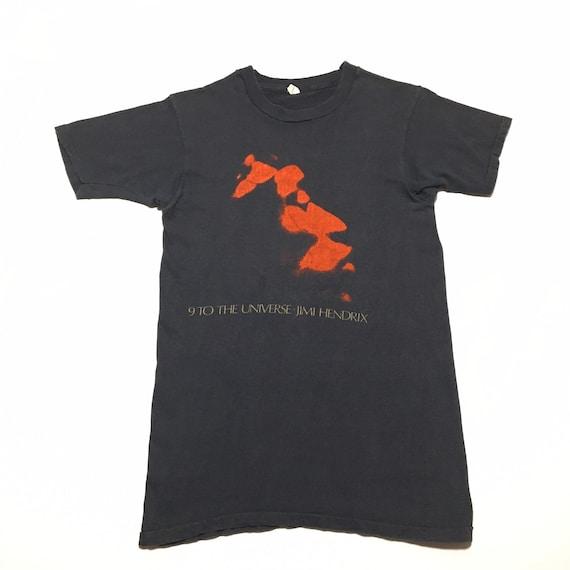 Vtg. 1980 Jimi Hendrix 9 to the Universe T-Shirt