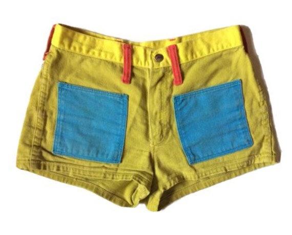 Vtg. 60s Peter Max x Wrangler Psychedelic Shorts