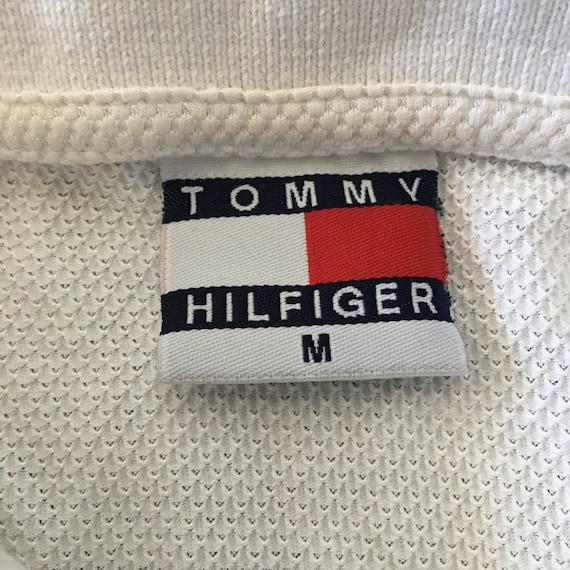 Vintage 90s Tommy Hilfiger Mesh Polo Shirt - image 3