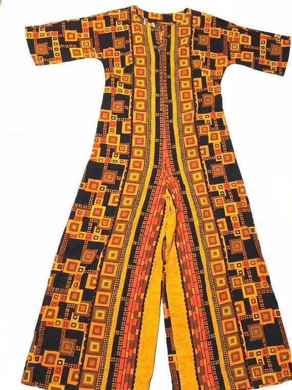 Vintage 60s Psychedelic Jumpsuit - image 1