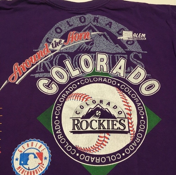 Vtg. Colorado Rockies Double Sided Huge Graphic A… - image 6