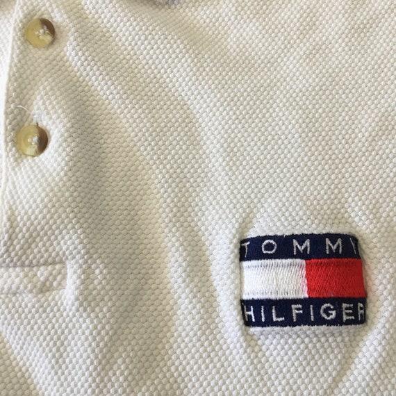 Vintage 90s Tommy Hilfiger Mesh Polo Shirt - image 4