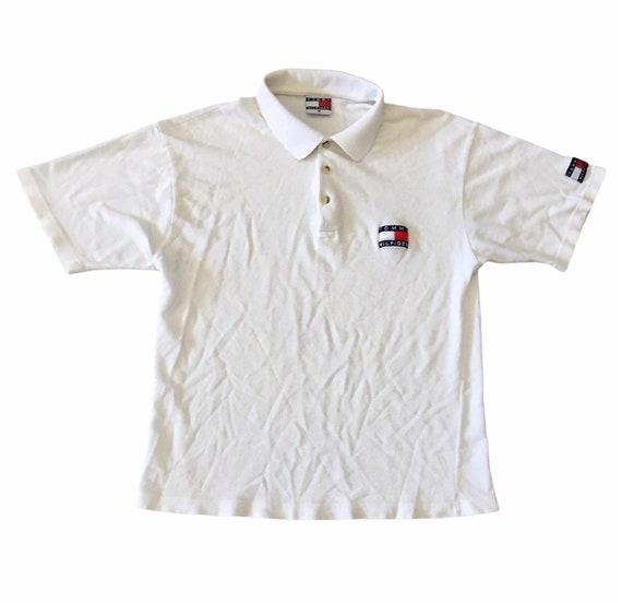 Vintage 90s Tommy Hilfiger Mesh Polo Shirt - image 1