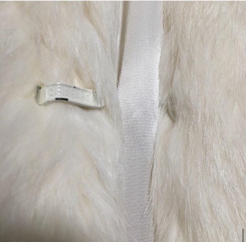 70s Rabbit Fur Coat  Size Large Vtg