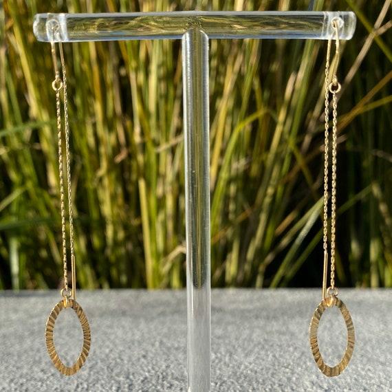 Vintage Unique 14k Gold Link Chain Diamond Cut Thr