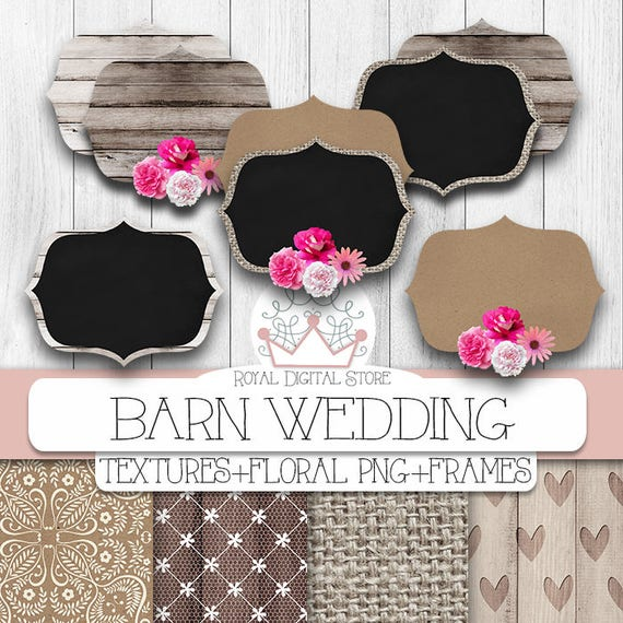 Wedding Digital Paper Barn Wedding With Wedding Backgrounds Lace Roses Png Frames And Flowers For Scrapbooking Cards Planners