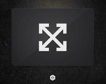 a996320d2d2 Off-White X Cross Arrow Logo Only Vinyl Decal Sticker