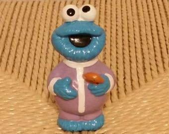 Cookie monster figure, baby cookie monester figure, Sesame Street pvc, Sesame Street figures