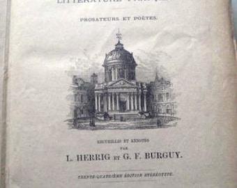 Herrig, L. /. G. F. Burguy LA FRANCE LITTERAIRE 1883 franz. 40.000 Stichwörter