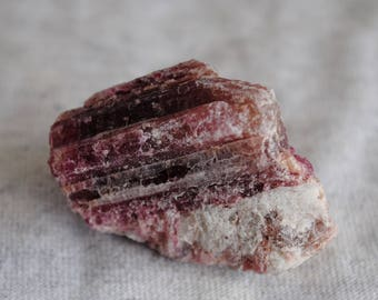 Pink Tourmaline Crystals on Matrix, Healing Stone