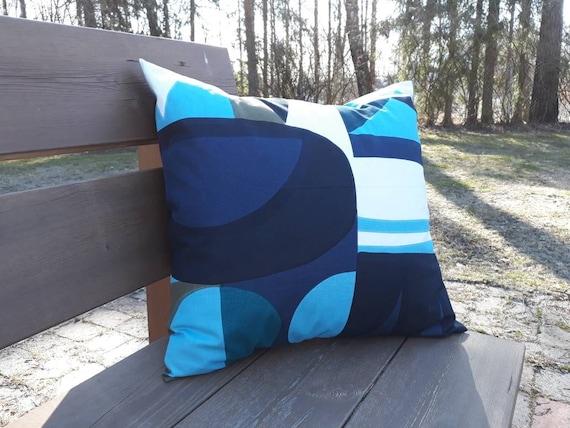 "handmade 16x16/"" Marimekko Finland Blue Mustikkamaa  cushion pillow cover"