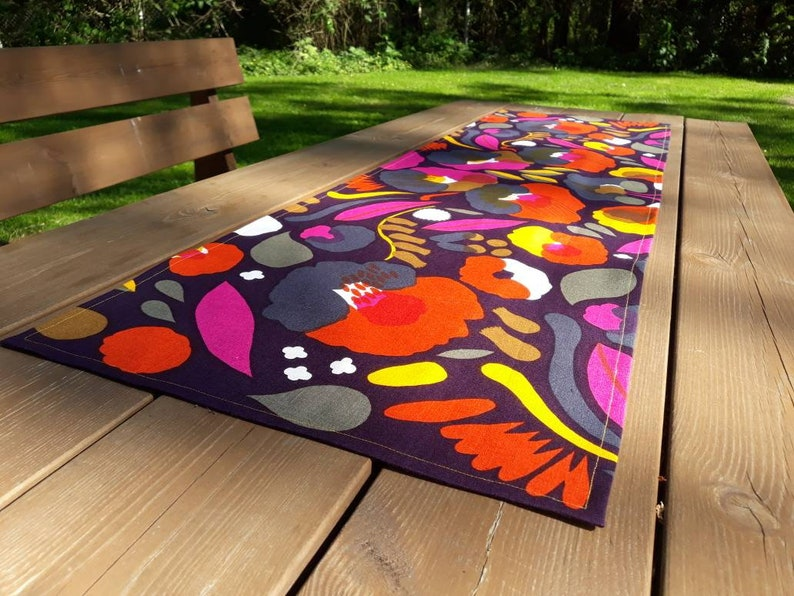 colorful table runners