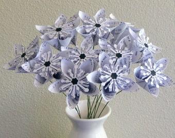 Maths Kusudama Flowers - 12 Paper Flowers