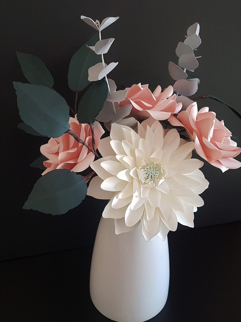 Pink Rose and Dahlia Bouquet