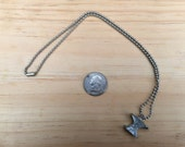Pewter Anvil Charm Necklace