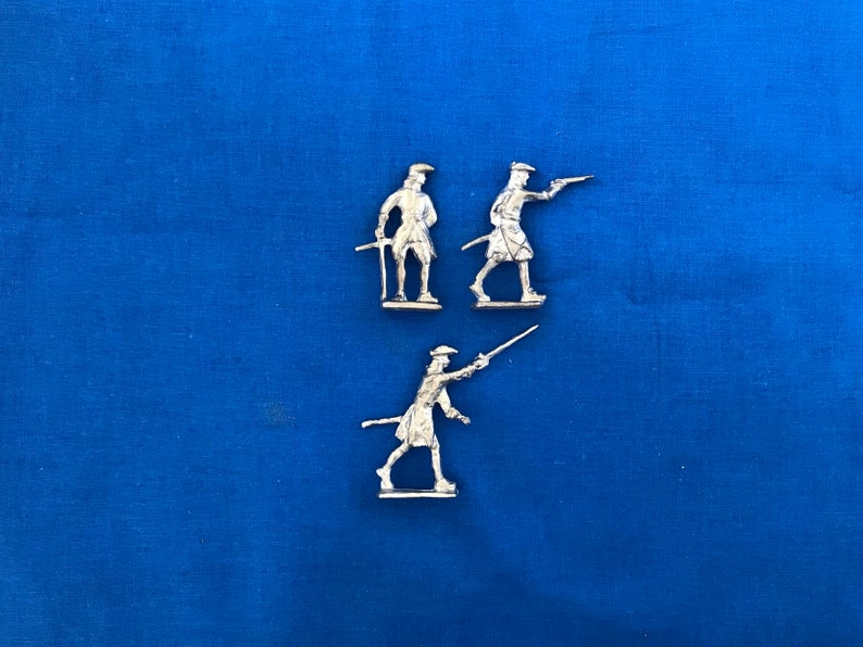 Semi-Flat Infantry Officers - 18th Century Toy Soldiers