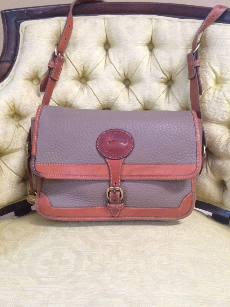 3f4aa4ab1dc Vintage Dooney and Bourke Leather Shoulder Bag Cross Body   Etsy