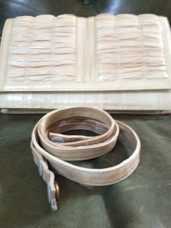 Vintage Eel Skin Purse, Gray Eel Skin Purse, Eel … - image 5