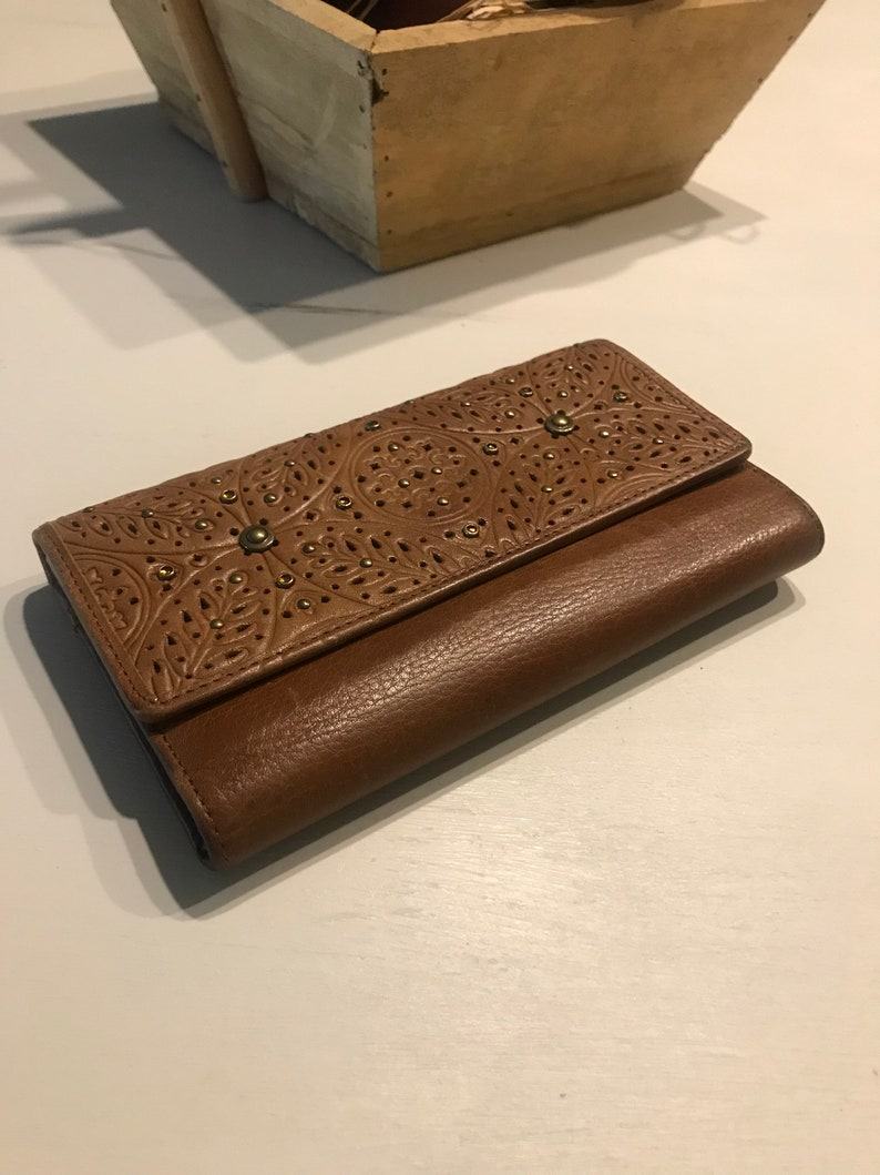 d157007bd4cd3 Portfel skórzany portfele skórzane etui czekowe brązowy | Etsy