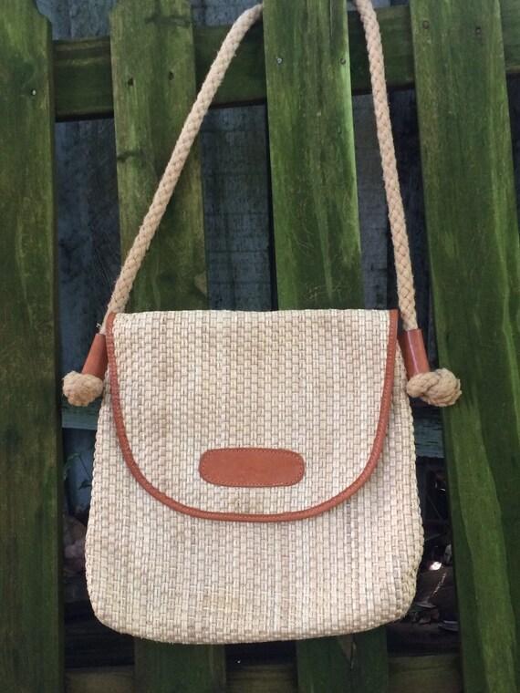 Vintage Straw Bag, Shoulder Bag, Straw Cross Body,
