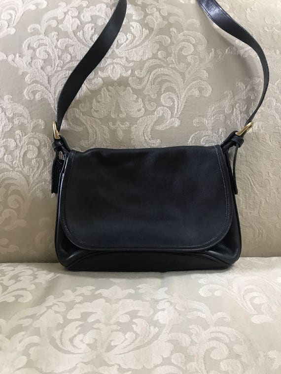 Vintage Coach Bag, Black Coach Bag, Coach Shoulder